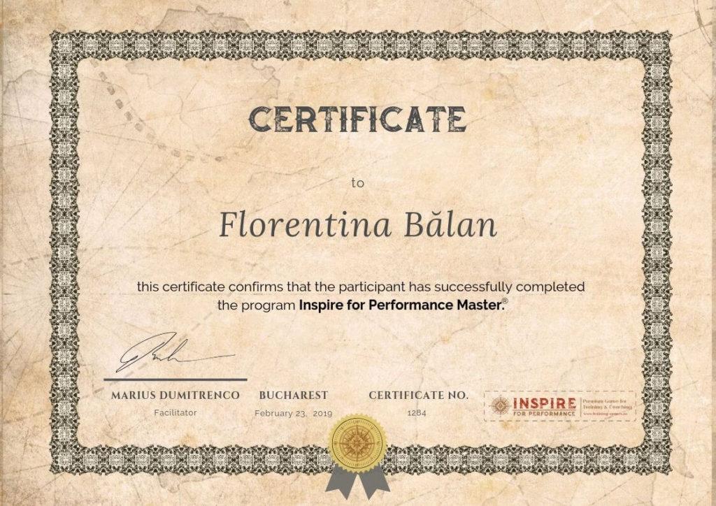 certificare master